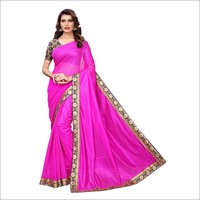 Fancy Lycra Sarees With Border
