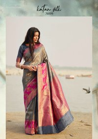 Designer Exclusive Katan Silk Saree