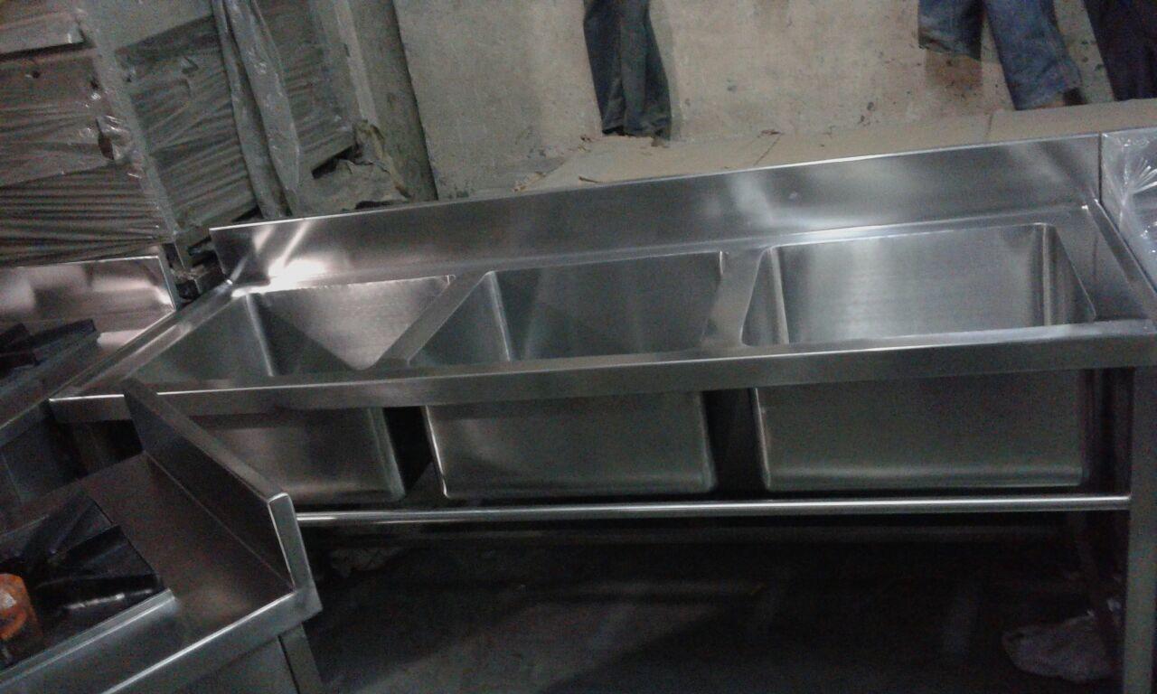 Three Bowl KItchen Sink