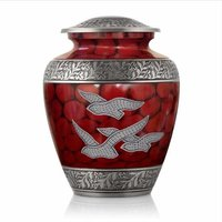 Going Home Red Aluminium Cremation Urn