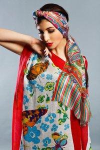 Wool Silk printed Shawls