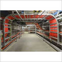 Cable tray installation and cable laying