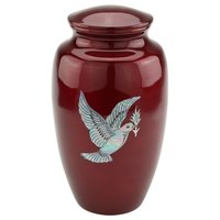Mother Of Pearl Bird Aluminium Cremation Urn For Ashes