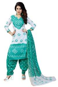 Pure Cotton Bandhani Dress Material