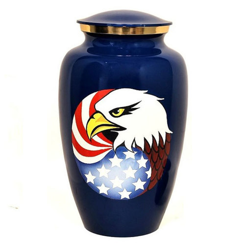 Eagle Aluminium Cremation Urn For Ashes
