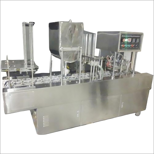 SS Automatic Cup Filling And Sealing Machine