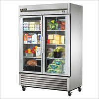 Stainless Interior Glass Door Refrigerator