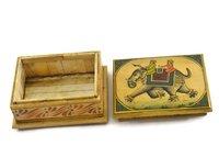 Indian Handmade Camel Bone Box Miniature Painting Decorative Handicraft