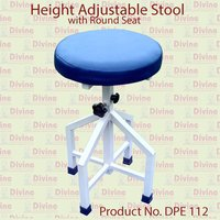 Height Adjustable Stool with Round Cushion Seat
