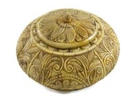 Indian Handmade Designer Camel Bone Box Handcarved Decorative Handicraft
