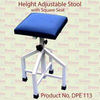 Height Adjustable Stool with Square Cushion Seat