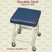Movable Stool with Square Cushion Seat