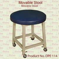 Movable Stool with Round Cushion Seat