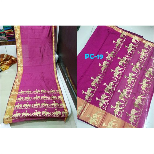 Foil Printed Saree