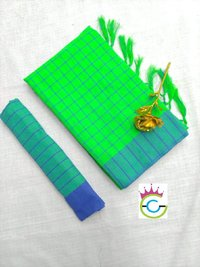 Designer Linen Cotton Saree