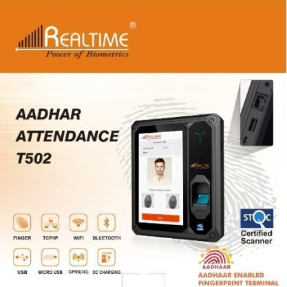 Realtime T 502 Aadhaar Enabled Biometric Attendance System