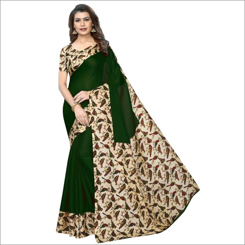 New Design In Cotton Blend Silk Sarees