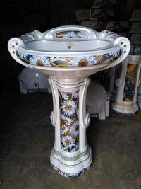 Big Starling Printed Washbasin Pedestal