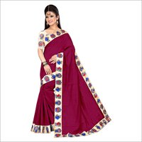 New Chiku Design Chanderi Saree