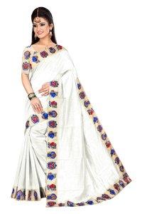 New Chiku Design Chanderi Saree