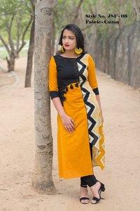 Embroidered cotton kurti