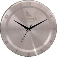 QANTAS STAINLESS STEEL WALL CLOCK