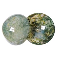 Satyamani Natural Moss Agate Healing Bowl