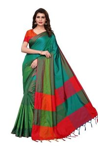 COTTON WITH TWO TONE FEEL SAREES