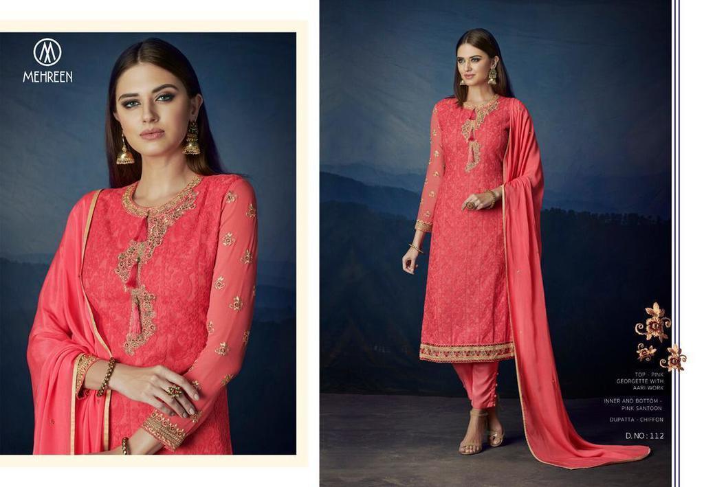 Georgette Embroidery work Salwar Kameez