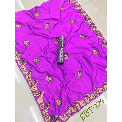 Heavy Embroidery Work Sana Silk Saree