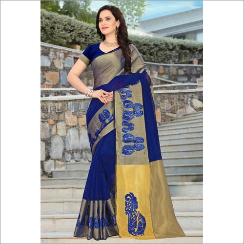 Cotton Work silk saree