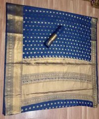 JEQUARD ZARI BUTTA SILK SAREE