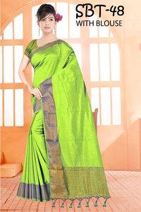 New Tussar Silk Sareee