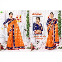 Jhankar Poly Cotton Silk Saree