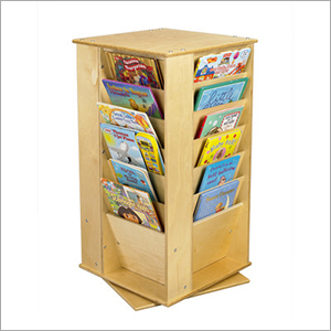 Wooden Cubbie Media Book Rack