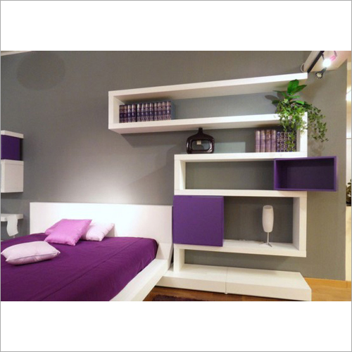 Minimalist Purple Designer Wall Rack