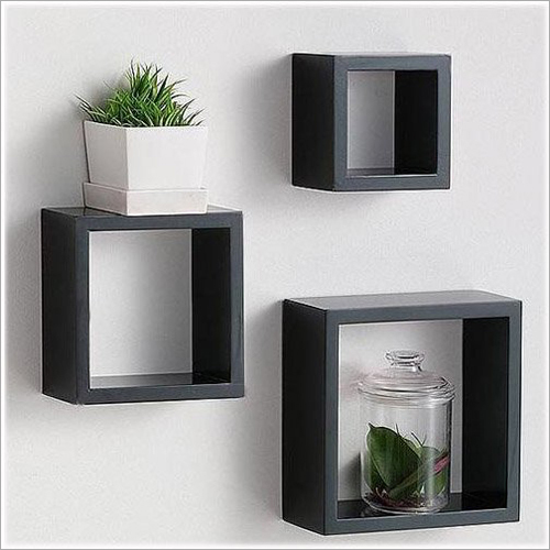 Wooden Cube Shelf Wall Rack