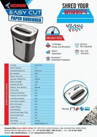 Kores Easy Cut 852 Paper Shredder