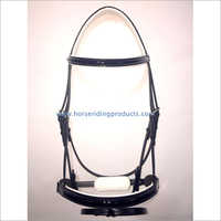 Patent Leather Bridle With Contrast Soft Leather Padding.