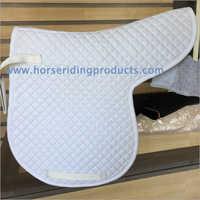 White Saddle Pad