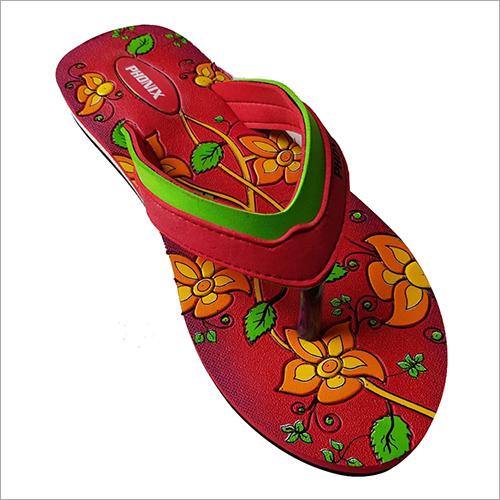 Ladies Floral Print Rubber Slipper