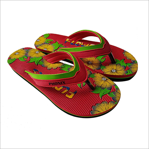 Ladies Floral Print Slipper