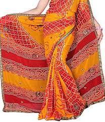 Jaipuri Bandhej Saree