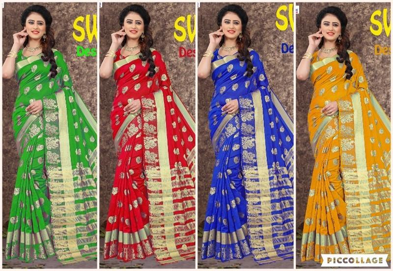 Dancing peacock Design Cotton Jacquard Saree