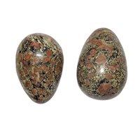 Satyamani Natural Ruby Matrix Egg