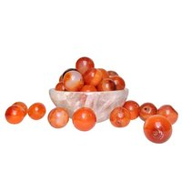 Satyamani Natural Energised Carnelian 12 mm. Beads