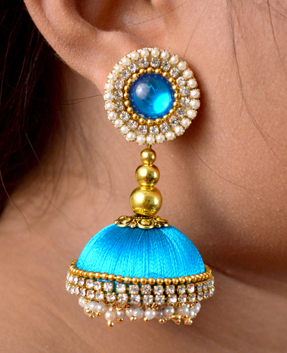 Latest Design Lorial Sky Silk Thread Earrings