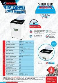 Kores Easy Cut 881 Paper Shredder