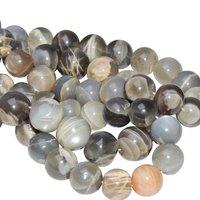 Satyamani Natural Energised Moon Stone 12 mm Beads