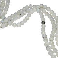 Satyamani Natural Energised Rainbow Moon Stone 10 mm Beads